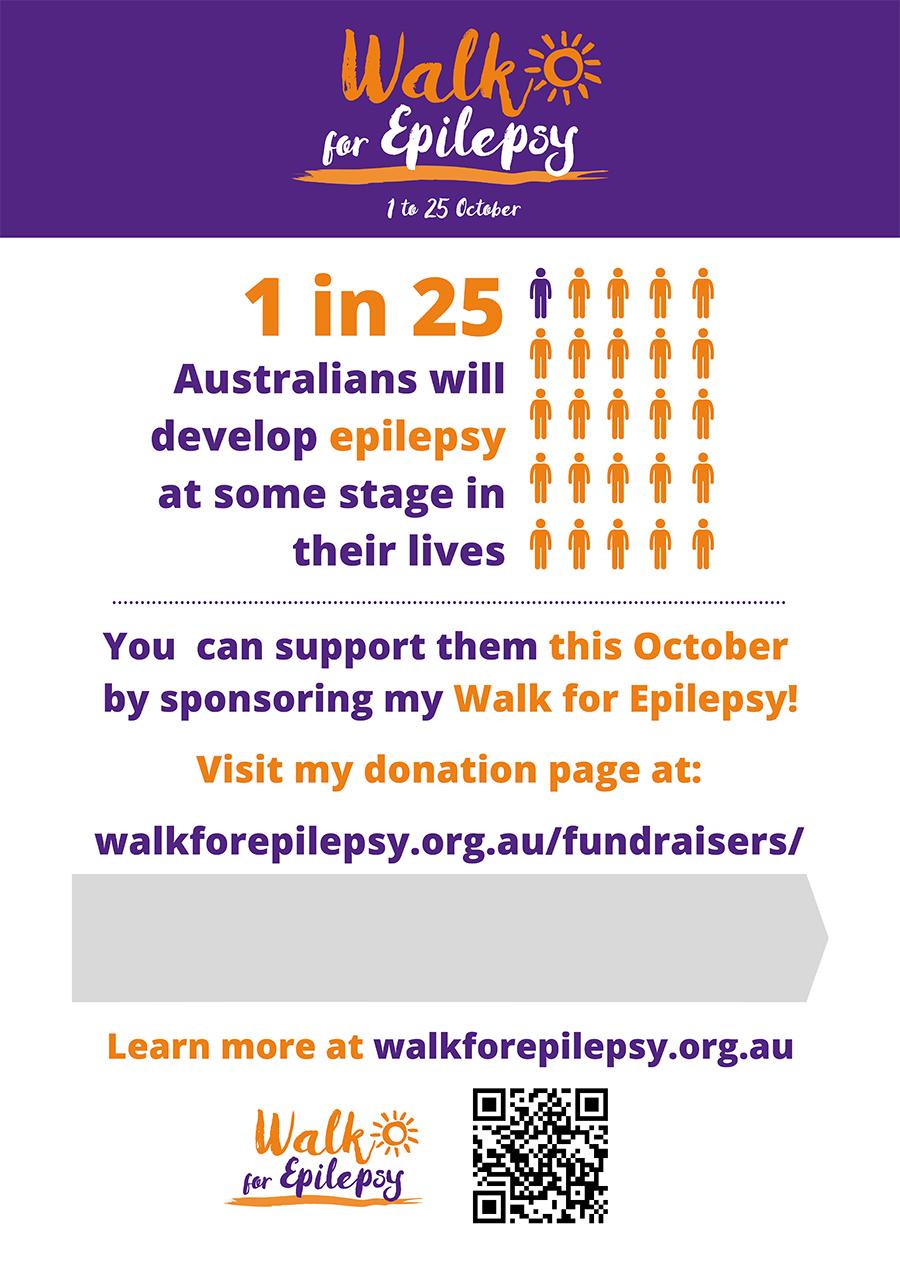 Poster - Walk for Epilepsy FR